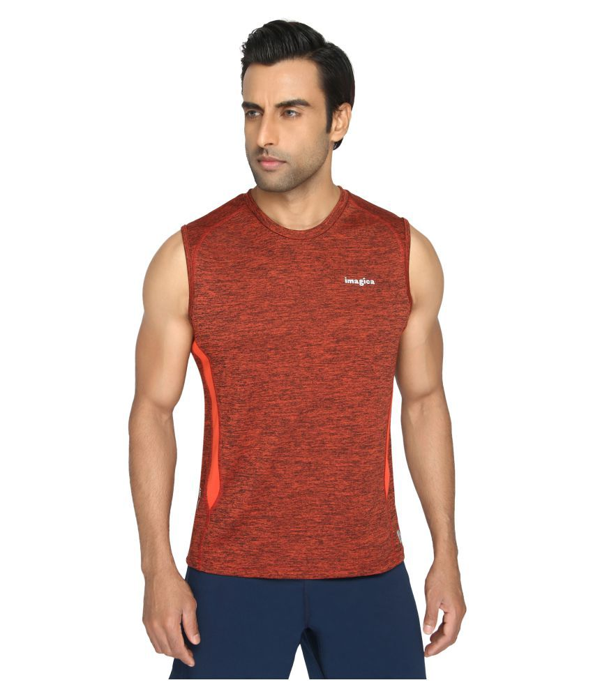 Imagica Orange Round T-Shirt