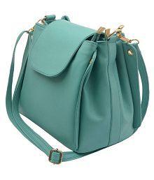 Glasy Green P.U. Sling Bag