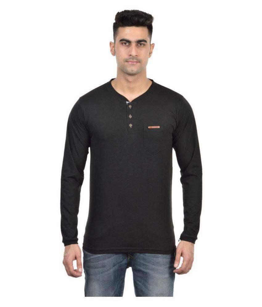 DFH Black Henley T-Shirt Pack of 1