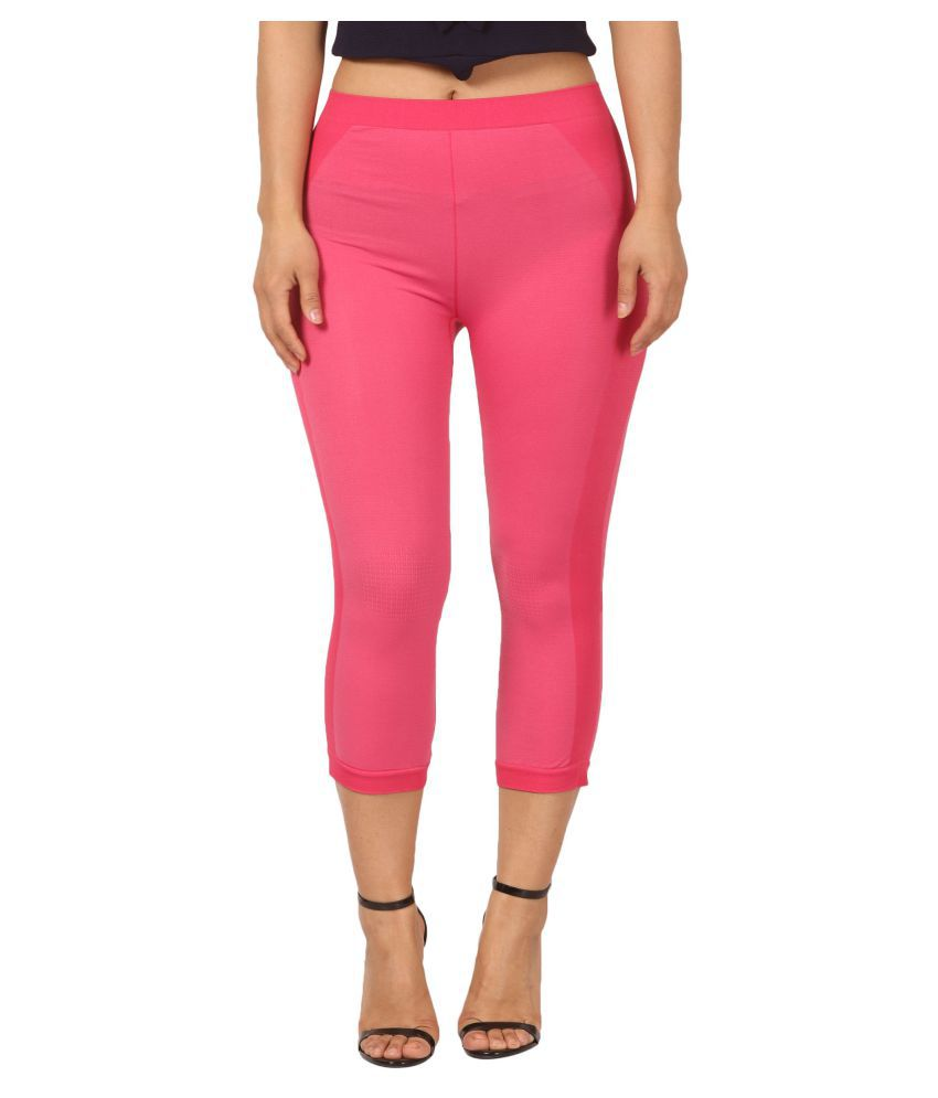 Fit 'N' You Rayon Tights - Pink