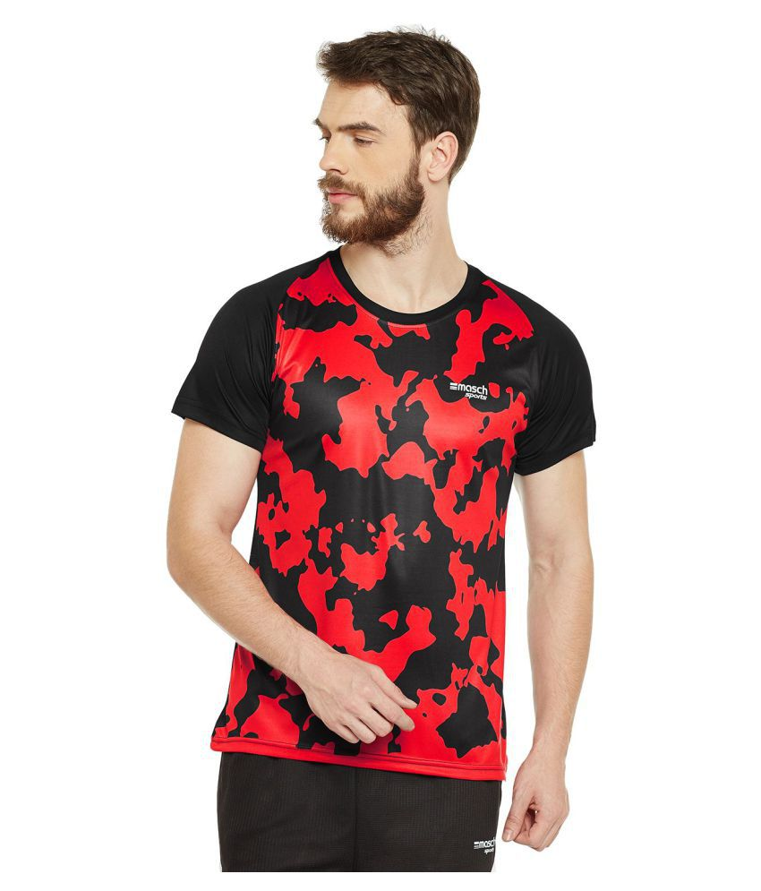Masch Sports Red Round T-Shirt Pack of 1