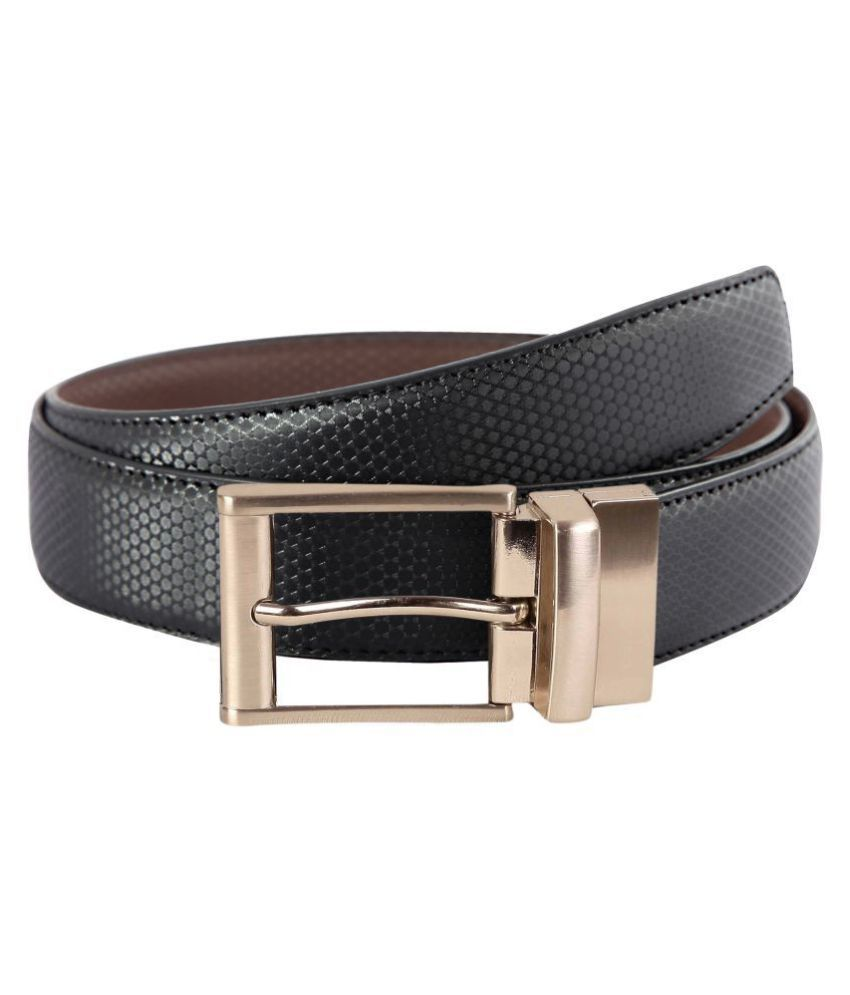 Scharf Brown Faux Leather Formal Belts