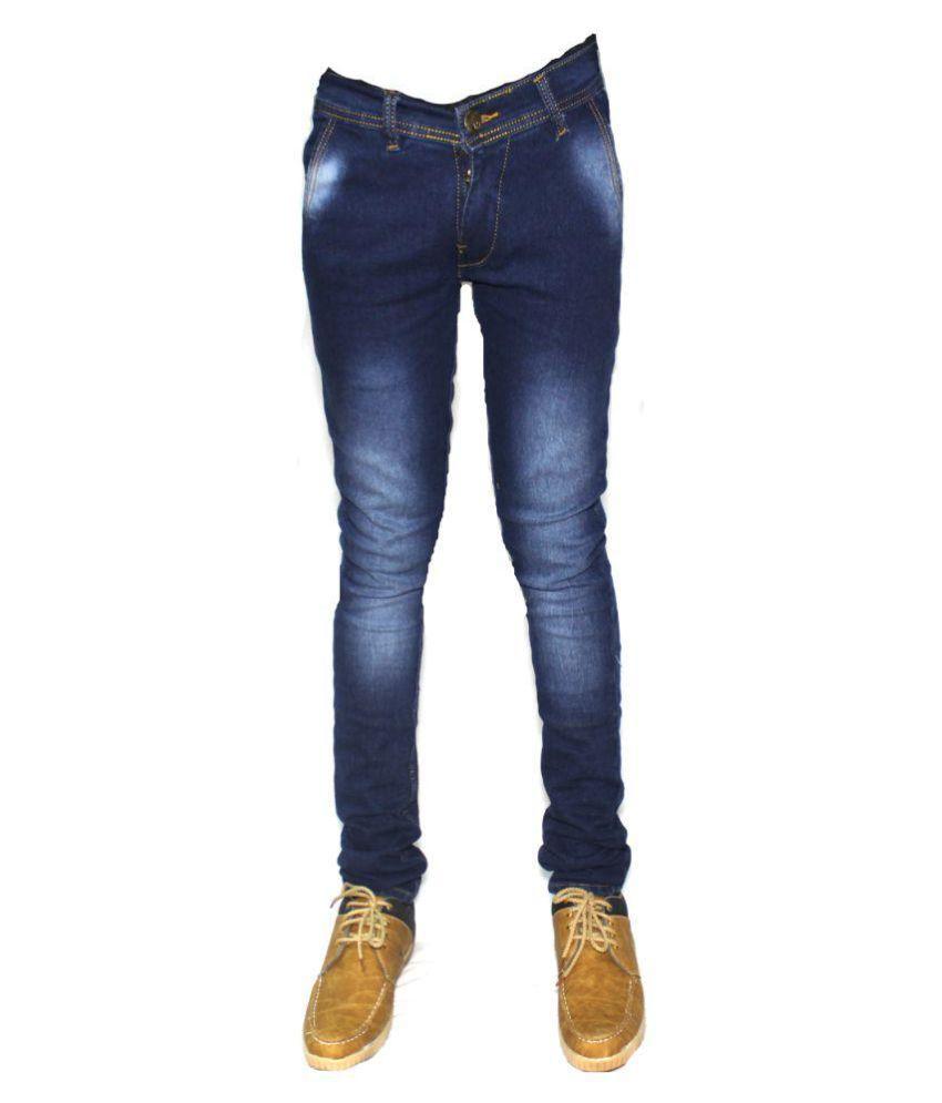 Linen Blue Slim Jeans