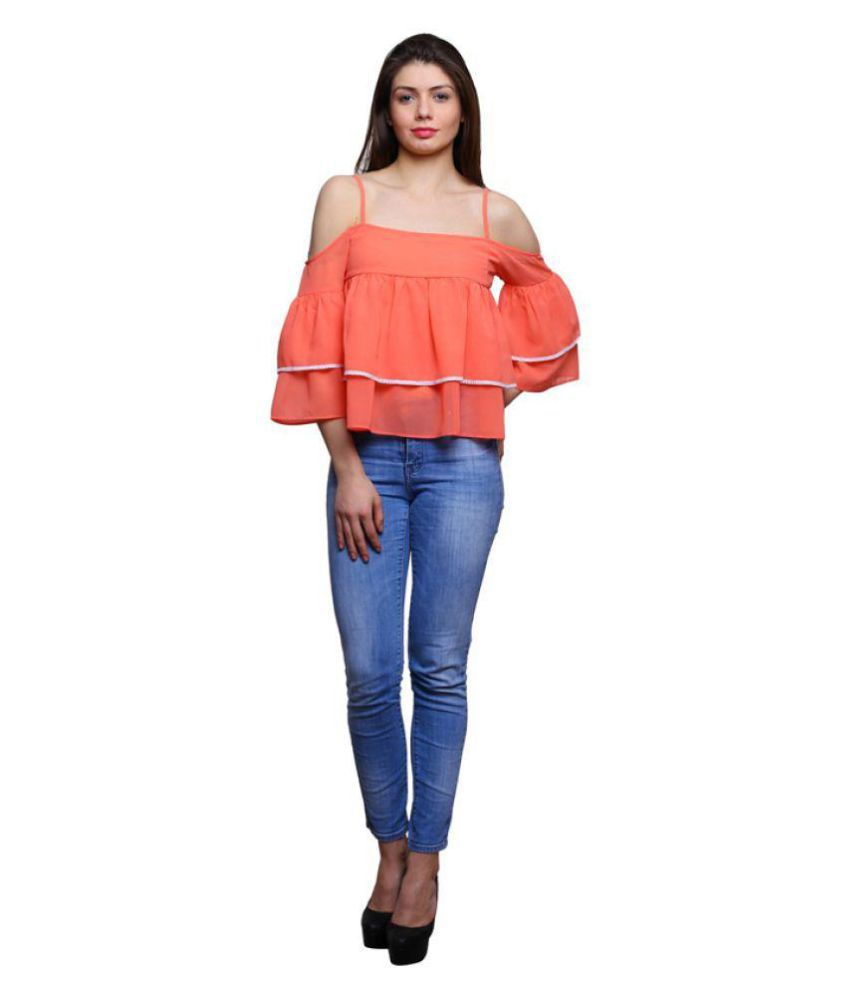 2261a405bba trendsnu Linen Tube Tops - Orange - Buy trendsnu Linen Tube Tops - Orange  Online at Best Prices in India on Snapdeal
