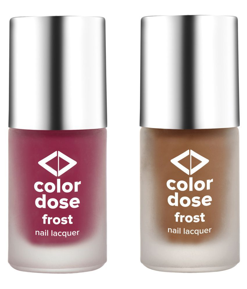 Color Dose Nail Polish Pink Me,Gold rush Frost 12 gm