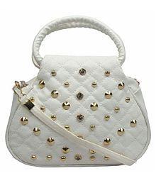 Geetu Ladies Bag White Pure Leather Sling Bag