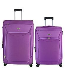 Timus Upbeat Spinner Wine 65 & 75 cm 4 Wheel Strolley Suitcase For Travel SET OF 2 ( Large Check-in Luggage )
