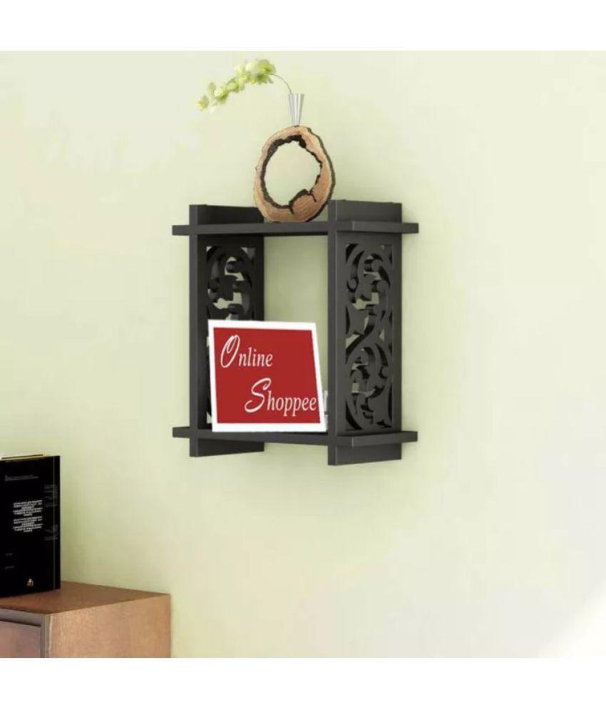 Onlineshoppee Floating Shelf/ Wall Shelf / Storage Shelf/ Decoration Shelf Black - Pack of 1