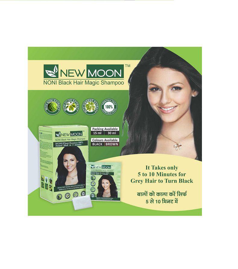New Moon Noni Black Hair Magic Shampoo Permanent Hair Color Black