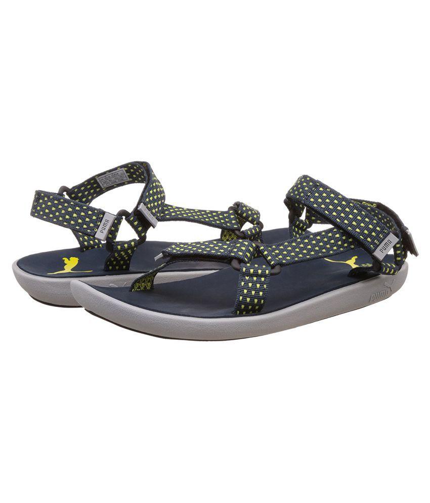 Puma Men s Plato DP Athletic   Outdoor Blue Sandals Price in India ... 1764bb4db