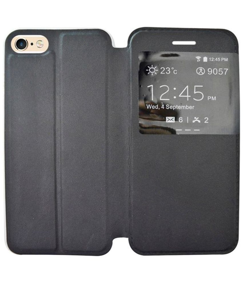 Apple Iphone 8 Plus Flip Cover by Coverage - Black
