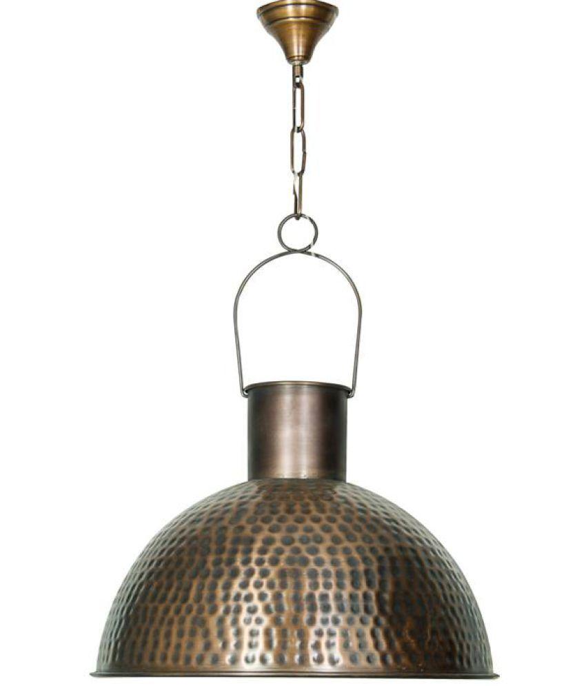 Fos Lighting Steel Antique Copper Hanging Light Pendant - Pack of 1