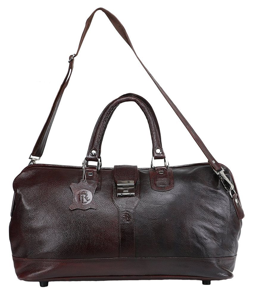 ROYAL LEATHER EMPORIUM Brown Duffle Bag