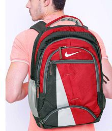Nike Red Grey Laptop Backpack
