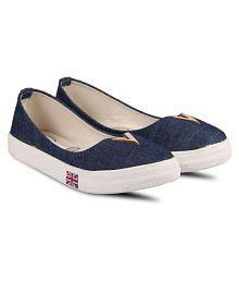 Vaniya shoes Blue Ballerinas