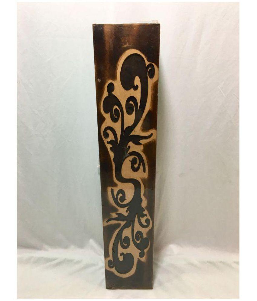 badshah craftsvilla wood floor vase 64 cms pack of 1 - Wooden Floor Vase