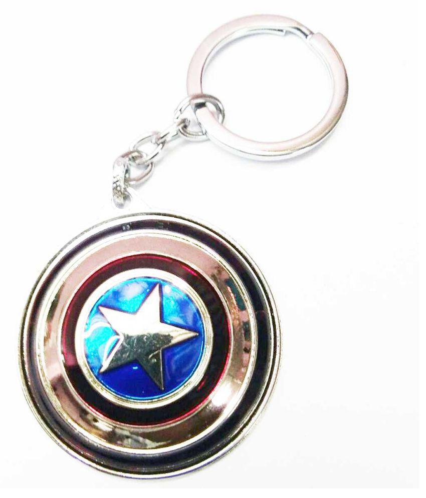 Metal Captain America Keychain