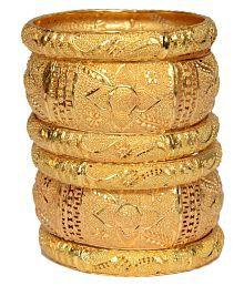 Mansiyaorange Original Look Six One Gram Gold Bangles For Women