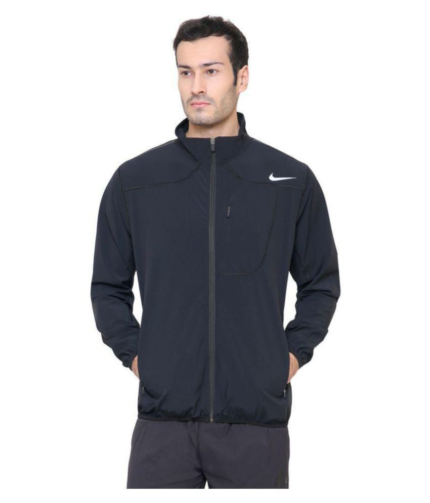 e95e468d6f2c Nike Black Polyester Terry Jacket - Buy Nike Black Polyester Terry ...