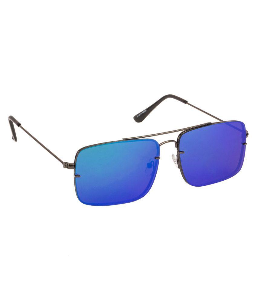 Arzonai Blue Square Sunglasses ( MA-6666-S7 )