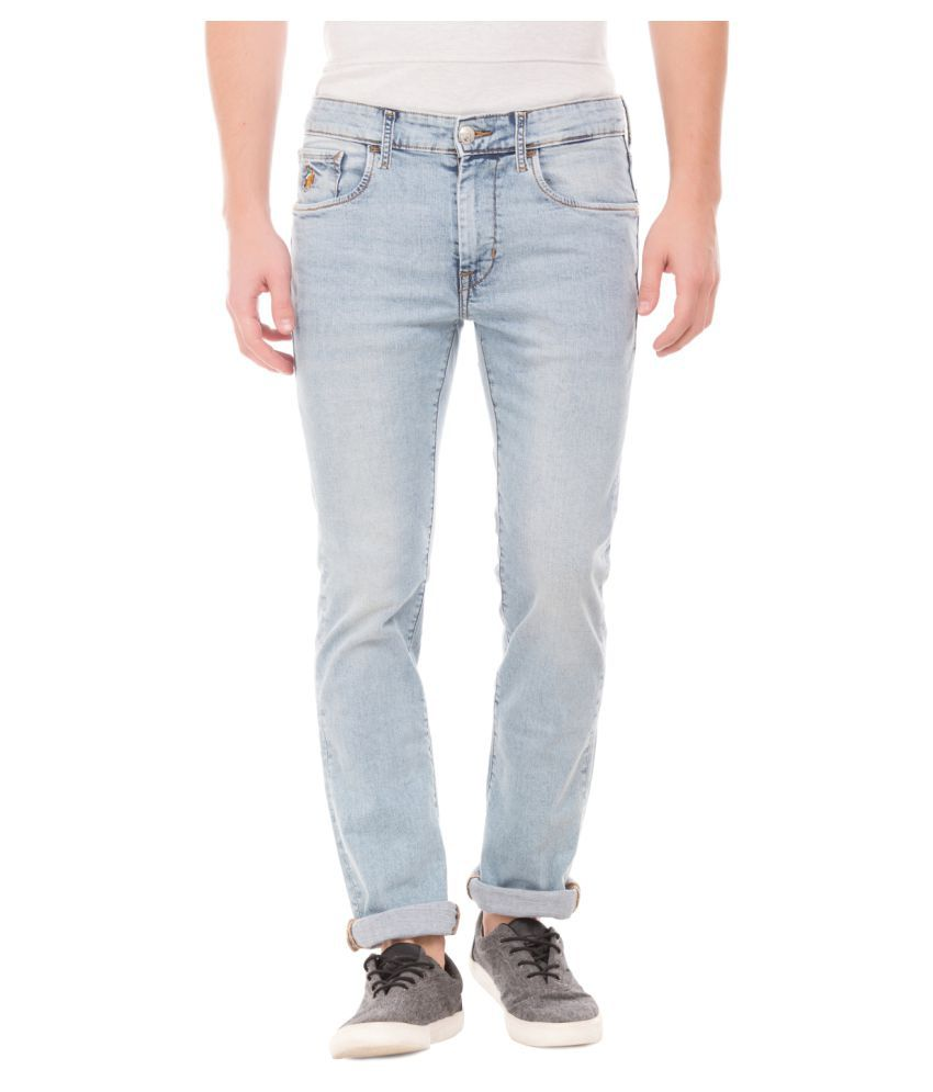 U.S. Polo Assn. Light Blue Regular Fit Jeans