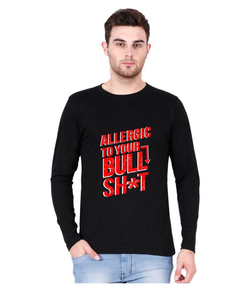 Be Awara Black Round T-Shirt