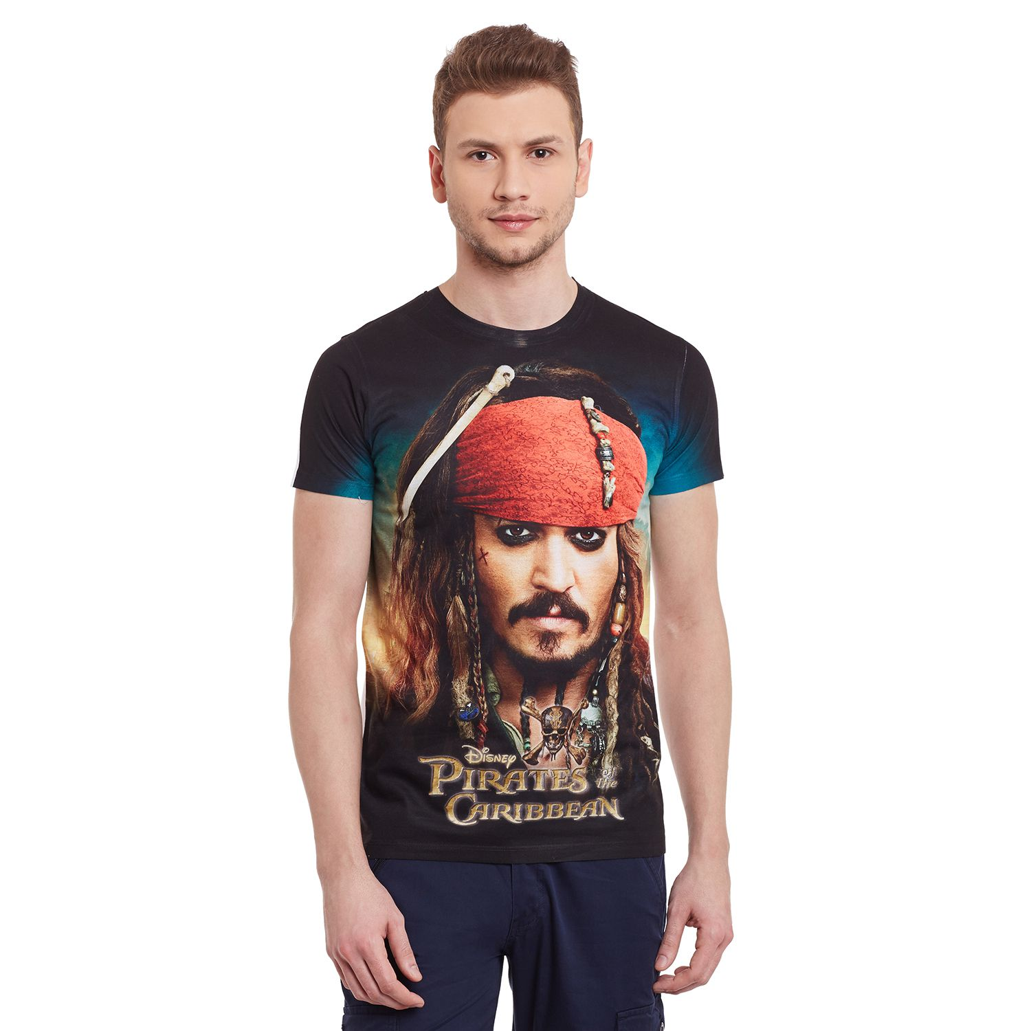 Pirates of the Caribbean Black Round T-Shirt Pack of 1