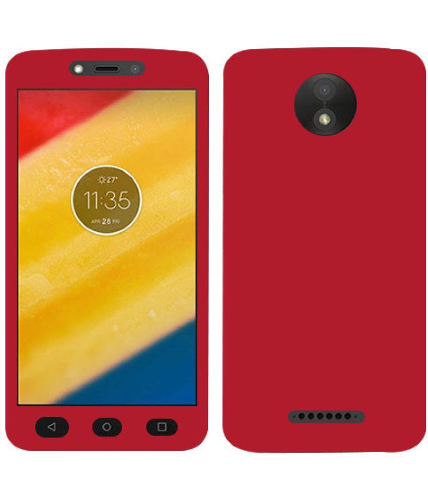 Moto C Plain Cases Doyen Creations - Red