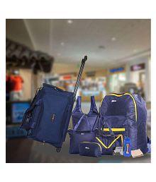 Bleu Blue Solid Duffle Bag- 9 Pcs Combo