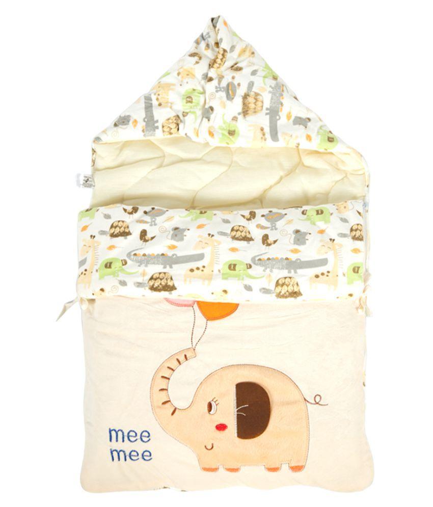 Mee Mee Yellow Cotton Baby Wrap cum blanket ( 41 cm × 2 cm - 1 pcs)