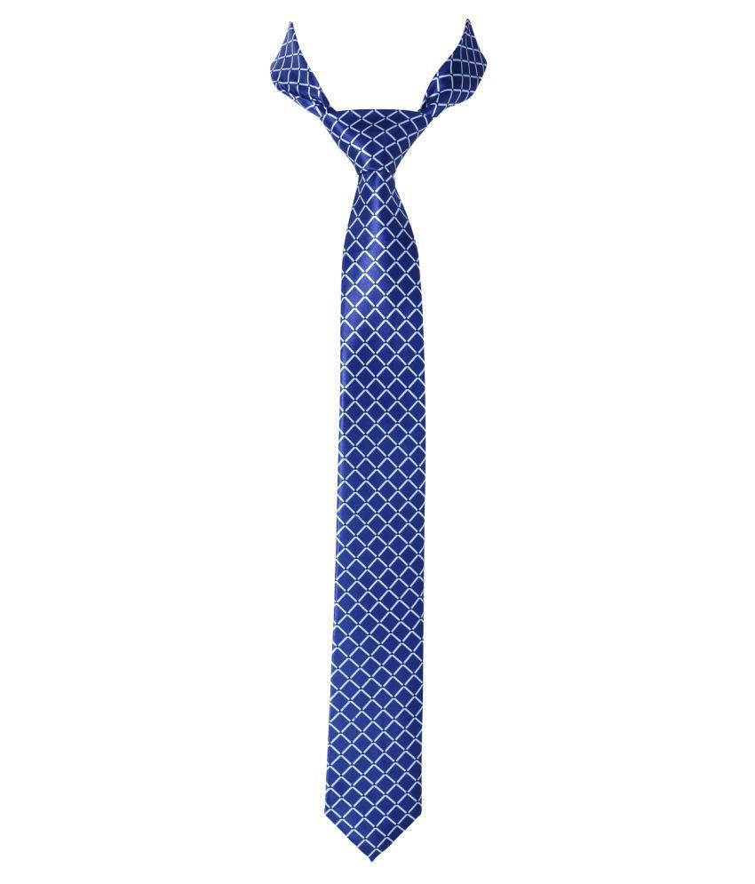 Zedix blue Printed Silk Necktie