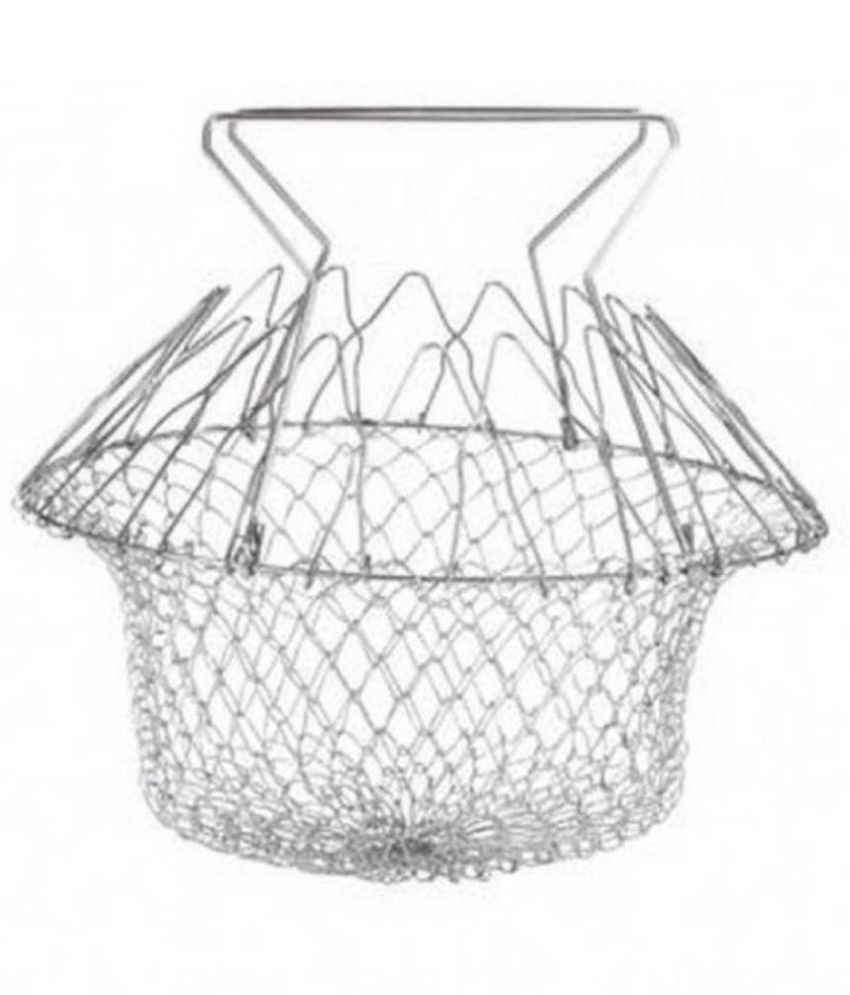 ZEVORA Chef Basket 12 in 1 Kitchen Tool for Cook, Deep Fry, Boiling Solid Steel Delux