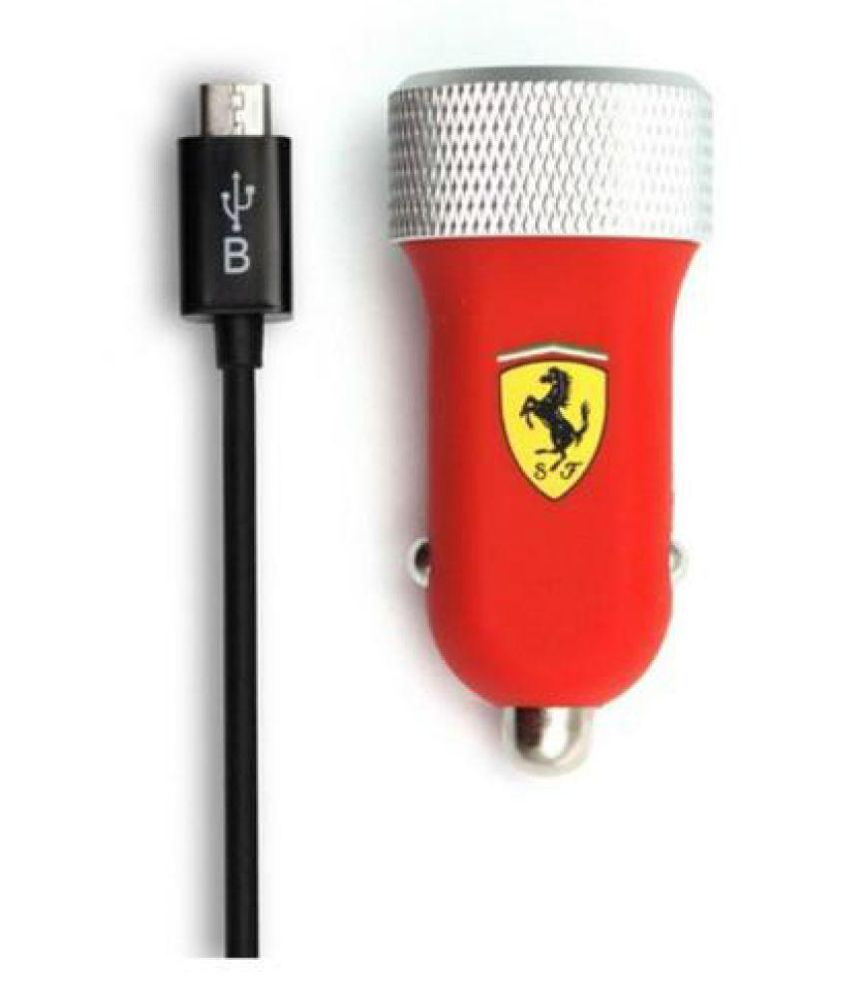 Ferrari Car Mobile Charger SW 257 Red