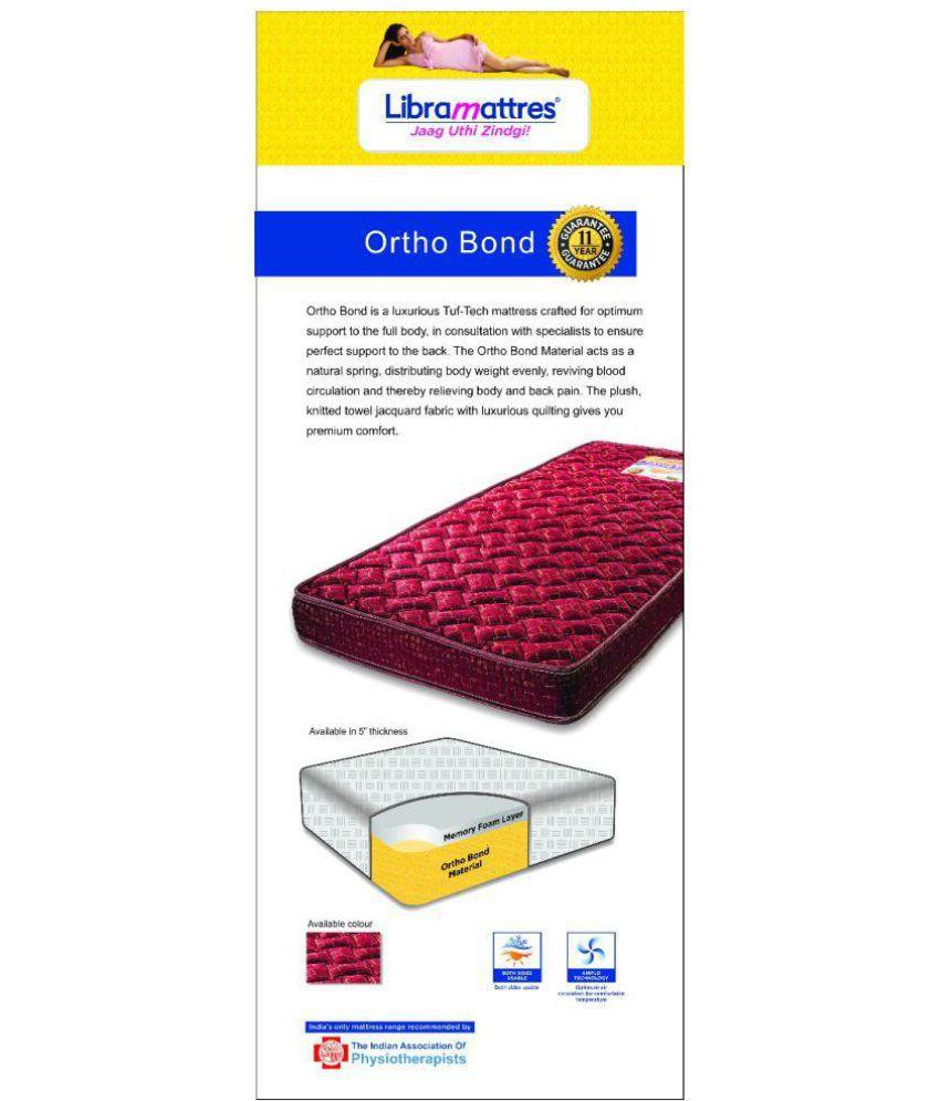 libra ortho bond 12 7 cm 5 orthopedic mattress buy libra ortho