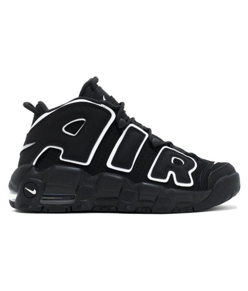 c12431de1e24 Nike Air UpTempo Black Basketball Shoes - Buy Nike Air UpTempo Black  Basketball Shoes Online at Best Prices in India on Snapdeal