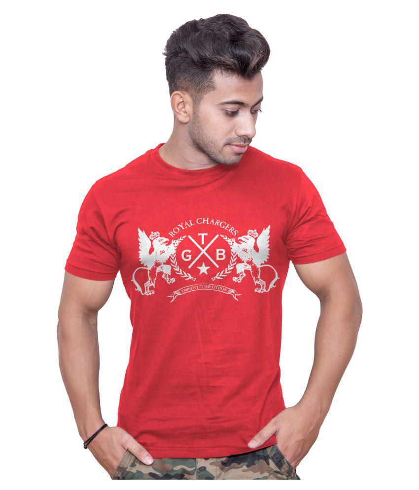 Print Opera Red Round T-Shirt