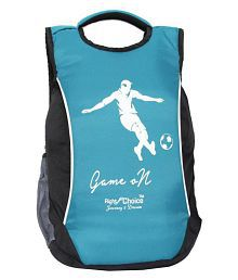 Right Choice Blue Nylon College Bag