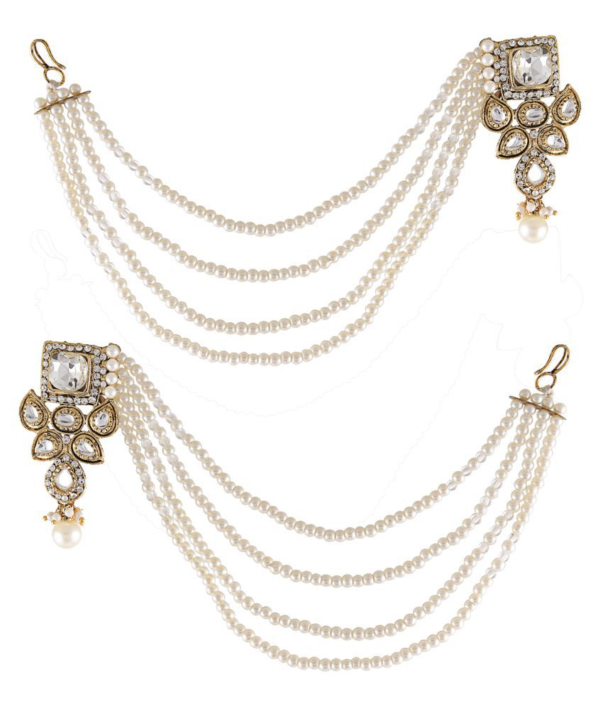 Grace Jewels Designer Kundan and Pearl Earrings