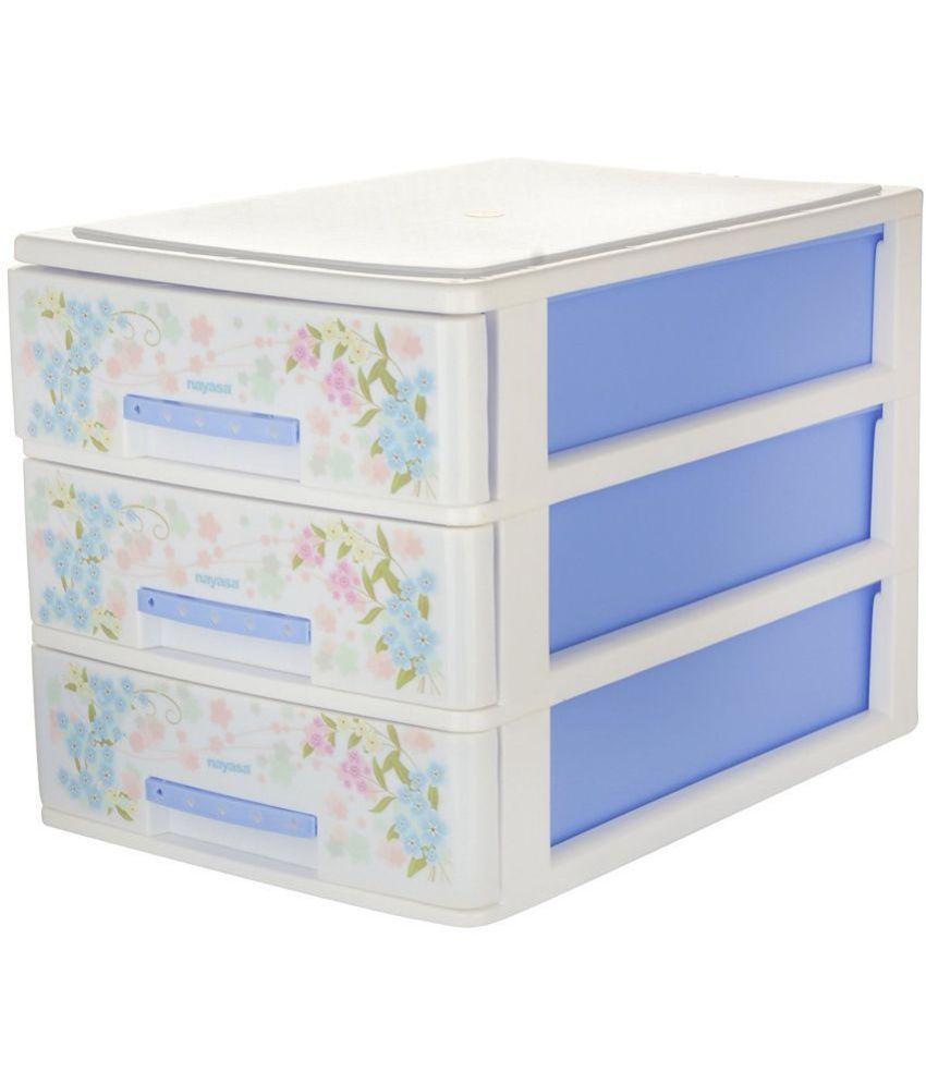 plastic storage drawers. Nayasa Deluxe Tuckins-13 Plastic Storage Drawer, 3 Drawers, Drawers H