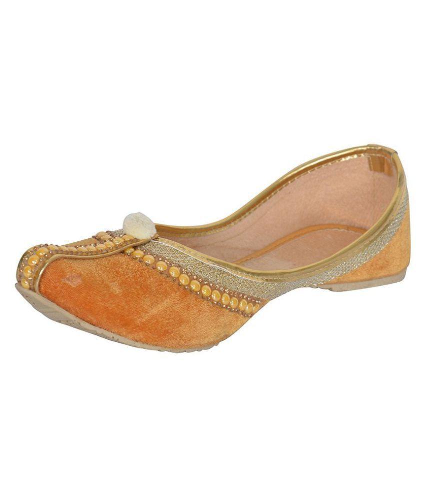 Ankita Orange Ethnic Footwear