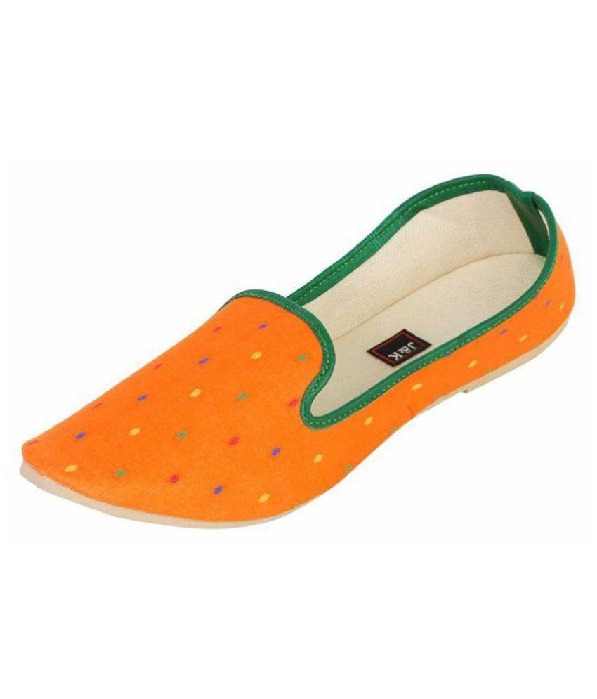 Juta & Kassa Orange Ethnic Footwear