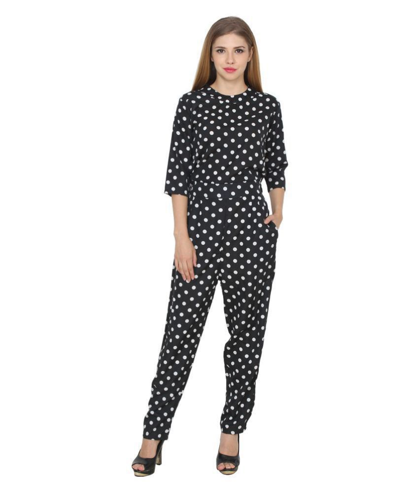 Shree Bebo Crepe Black Jumpsuits