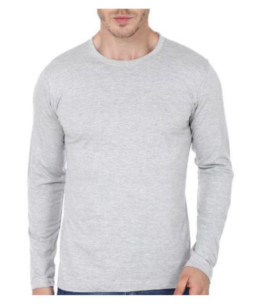 Ytrick Grey Round T-Shirt Pack of 1