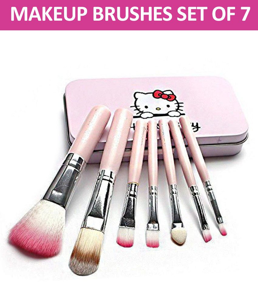 56a018a38 Makeup Fever Hello Kitty Professional Makeup Brushes Synthetic Set of 7   Buy Makeup Fever Hello Kitty Professional Makeup Brushes Synthetic Set of 7  at Best ...