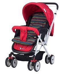 Toyhouse Baby Stroller Pram Universal, RedStriped