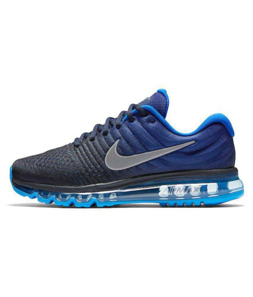 Nike MAX 2017 Blue Running Shoes