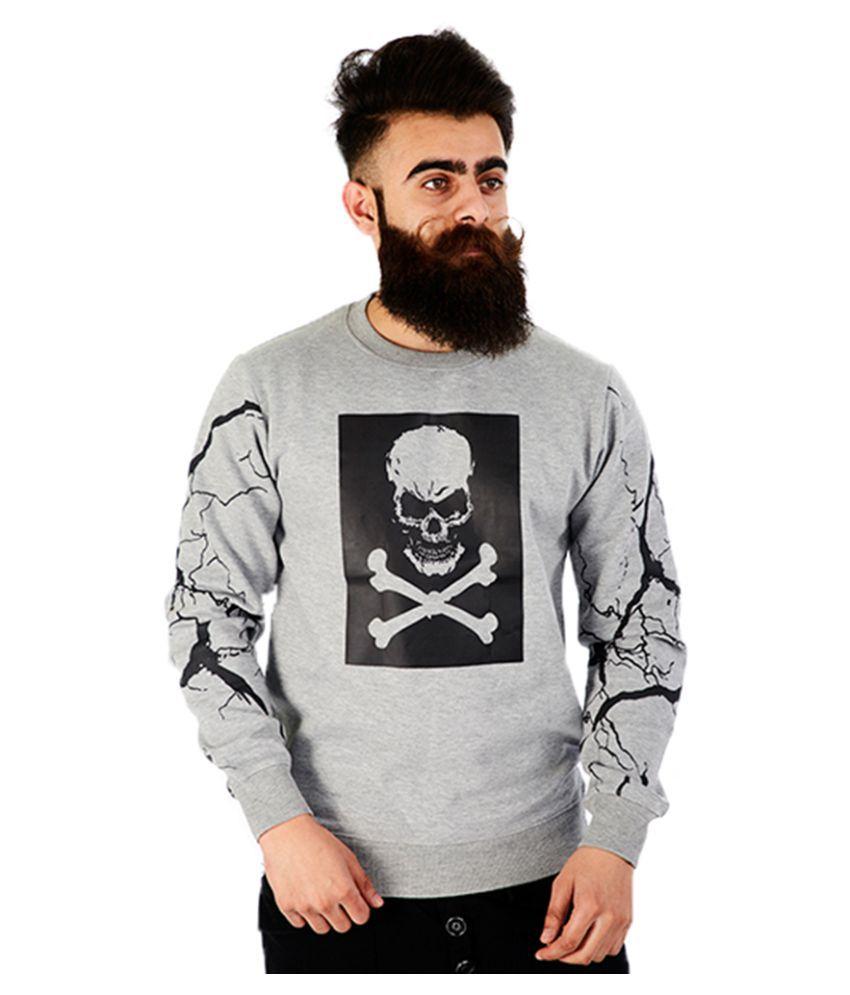 Rellin Grey Round Sweatshirt