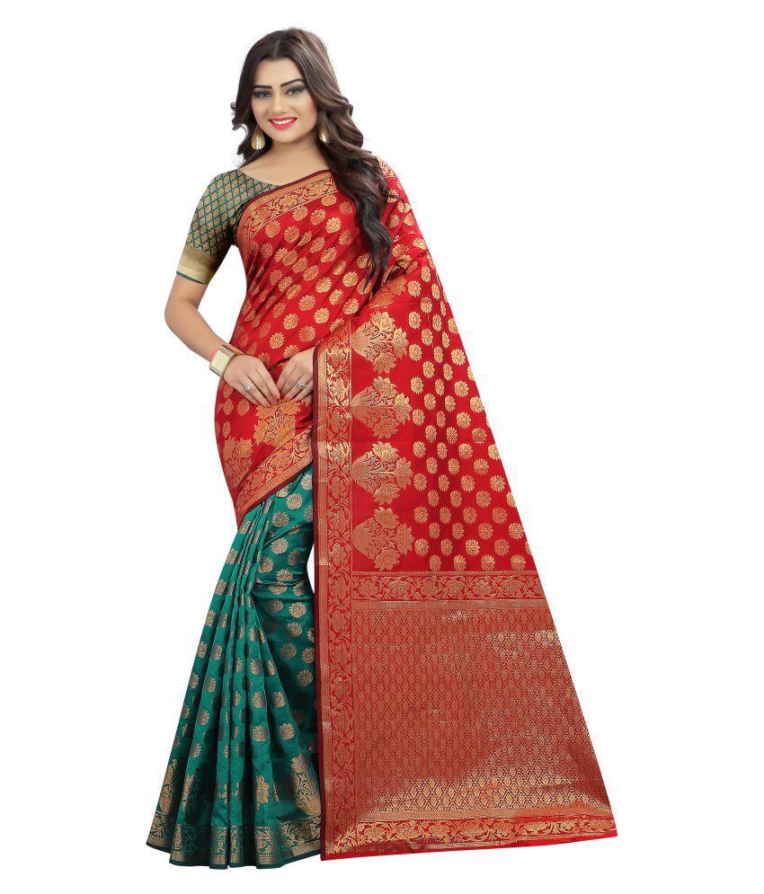 Saloni Designer Turquoise Banarasi Silk Saree