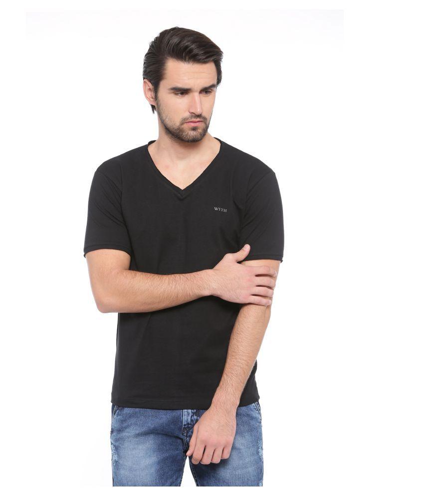 SHOWOFF Black V-Neck T-Shirt