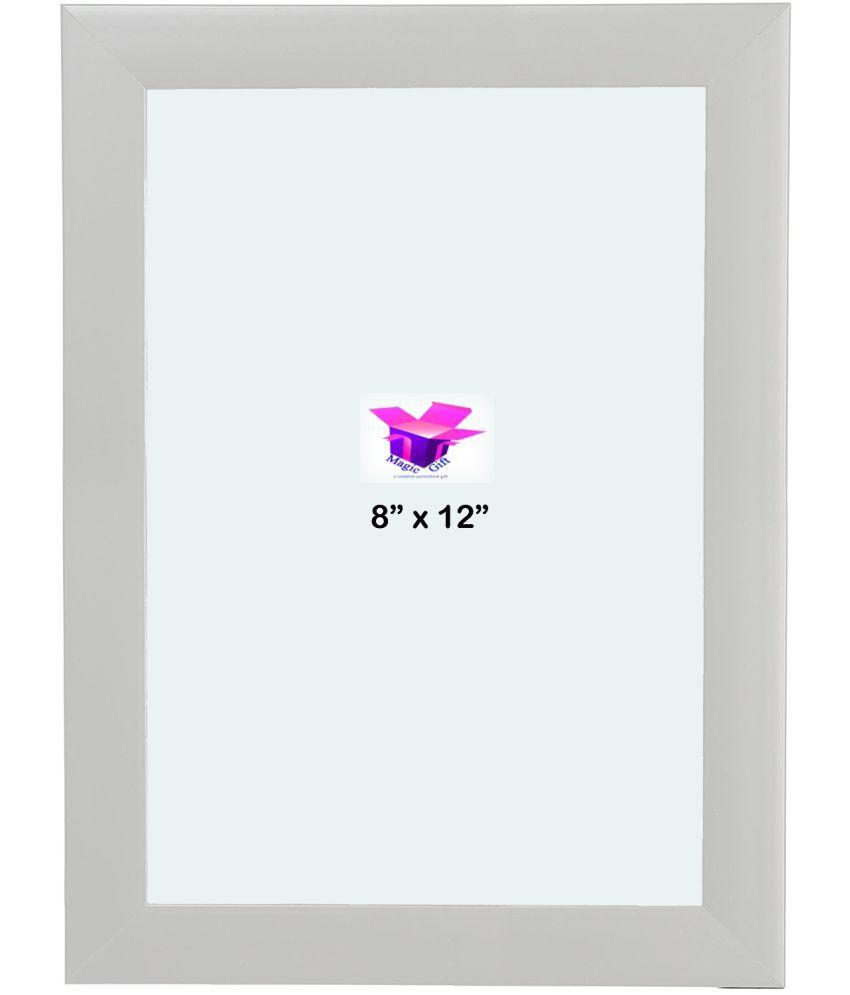 MAGIC GIFT Wood White Single Photo Frame - Pack of 1